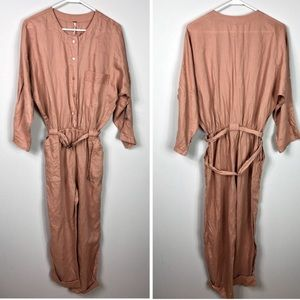 Free People linen jumpsuit